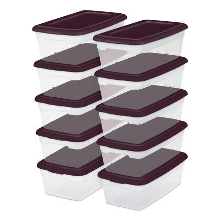 Sterilite 6 Qt./5.7 L Storage Boxes Metropolis Burgundy Case of 40 Now $27.99
