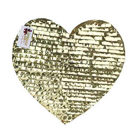 APINATA4U Gold Heart Pinata Wedding Party Decor Fully - Valentines Pinata