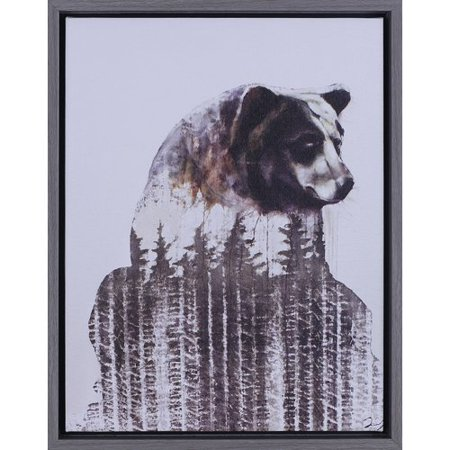 Union Rustic 'Brown Bear' Framed Graphic Art Print - Bull And Bear Chicago Halloween