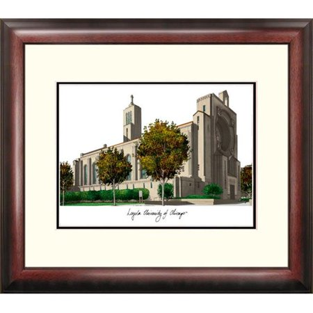 """Campus Images IL970R 18"""" x 14"""" Loyola University of Chicago Alumnus Lithograph Frame"""