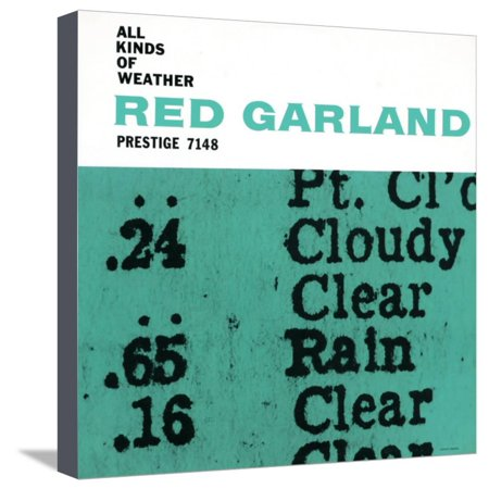All Weather Canvas Print (Red Garland - All Kinds of Weather Stretched Canvas Print Wall Art )