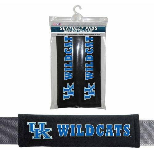 NCAA Kentucky Velour Seat Belt Pads