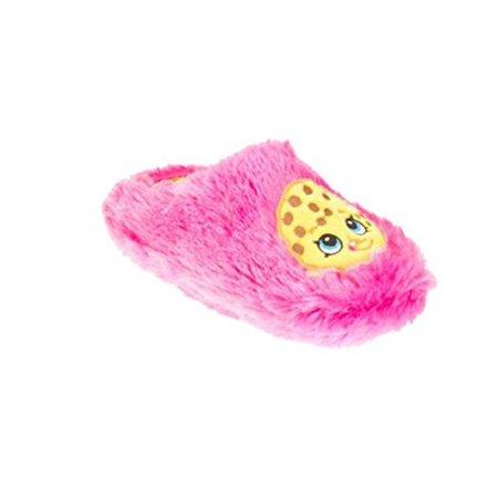 Shopkin Girls Fuzzy Plush Pink Shopkiins Cookie House Shoes (XLarge - Funky Punk