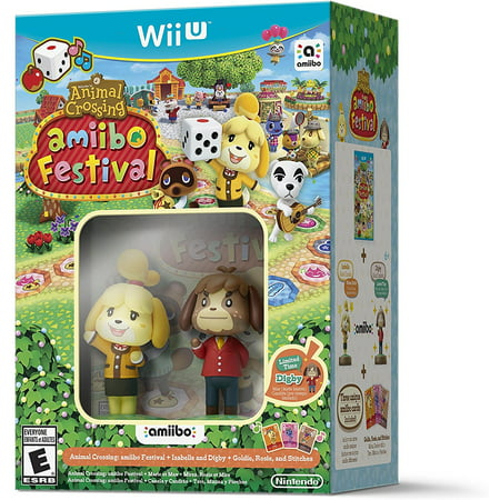 Animal Crossing: amiibo Festival Bundle - Wii U, Includes game, two amiibo figures and three amiibo cards. By Nintendo From USA (Halloween Games For A Fall Festival)