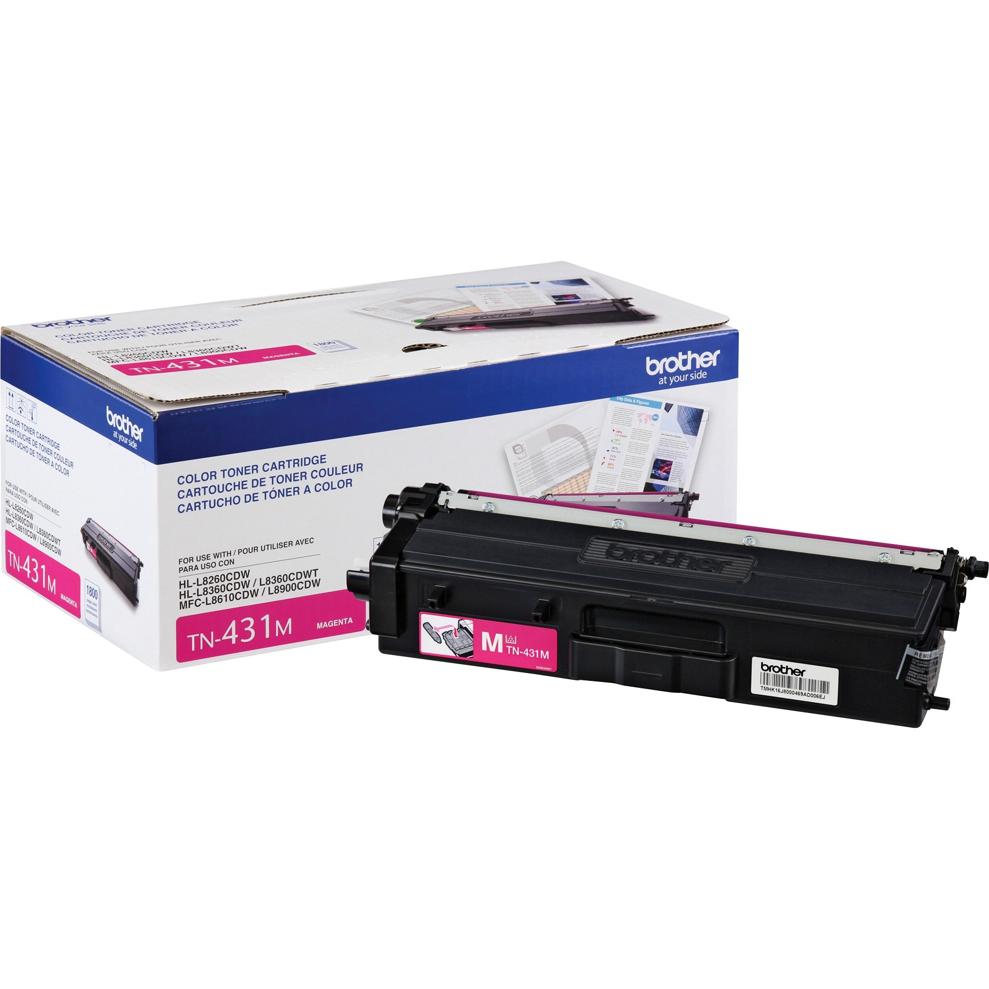 Brother, BRTTN431M, TN431M Toner Cartridge, 1 Each