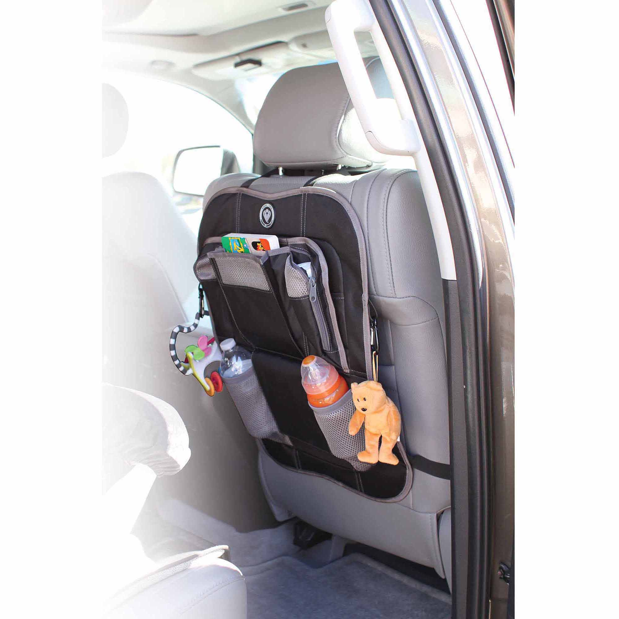 Prince Lionheart Backseat Organizer & Kickmat, Brown