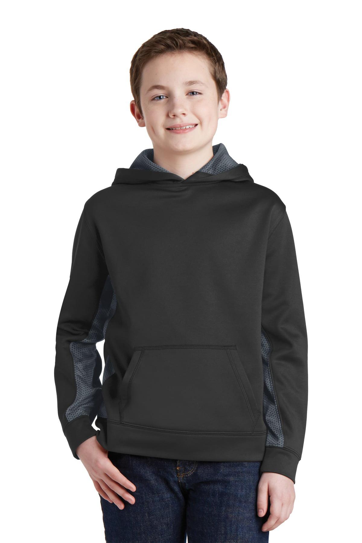 SportWick CamoHex Fleece Colorblock Hooded Pullover
