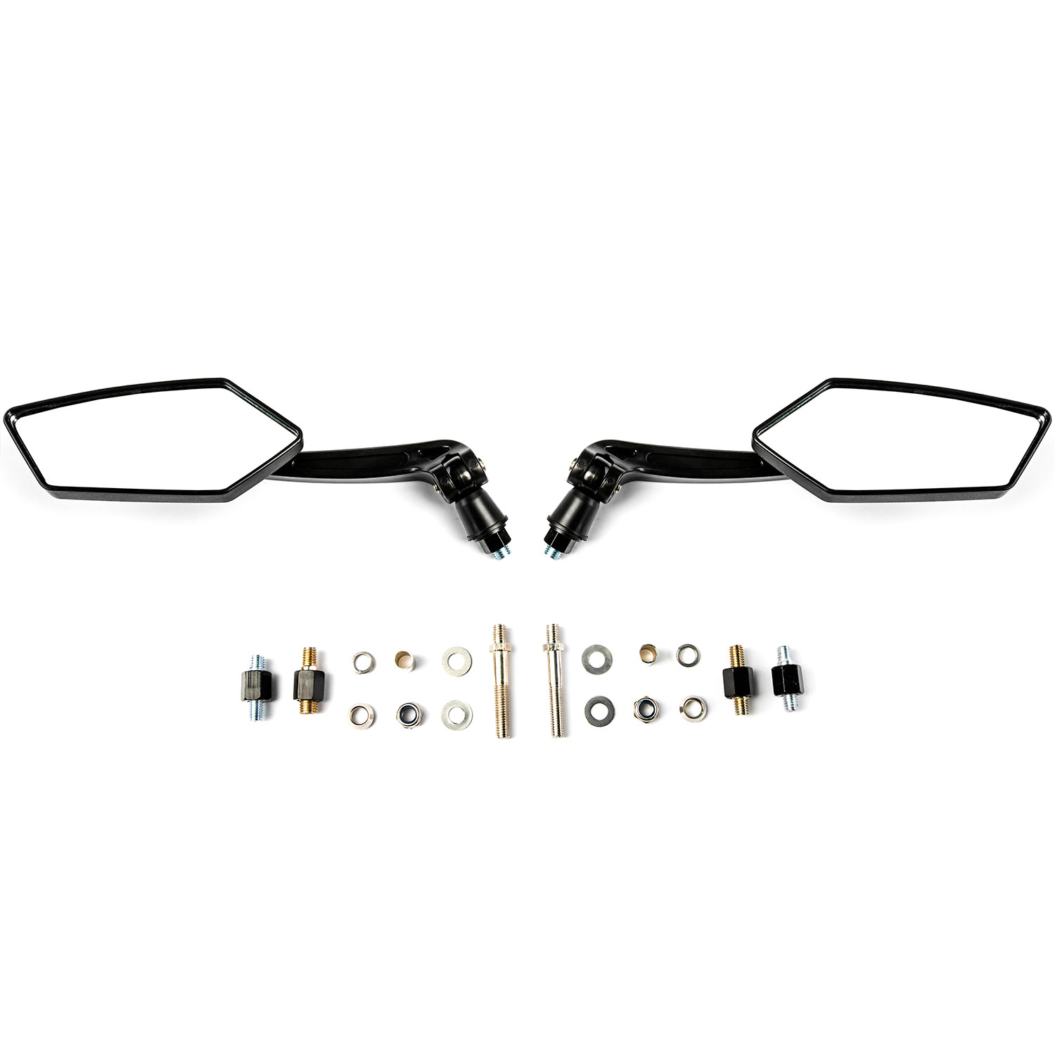Custom Rear View Mirrors Black Pair w/Adapters For Yamaha YZFR6 R6S YZF R6 - image 3 of 4