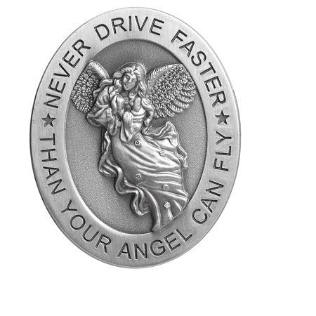 "Angelstar 15725 Metal Visor Clip, 2-1/2-Inch, Never Drive Faster, Reads ""Never drive faster than your angel can fly"" By Angel Star Ship from US"