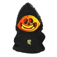 Halloween Headless Horseman Pumpkin Pinata, Black & Orange, 11in x 17in
