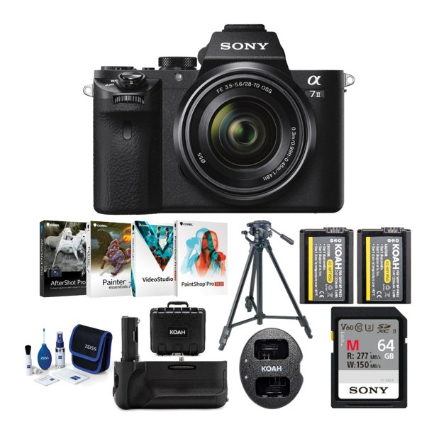 Sony Alpha a7 II Mirrorless Digital Camera w/ 28-70mm Lens & Accessories Bundle