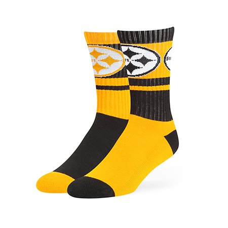 super popular fccb7 5f6c1 NFL - NFL Pittsburgh Steelers Wentworth Crew Crew Socks by Fan Favorite -  Walmart.com