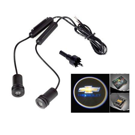 - 2x Chevrolet Logo 5W Car Door Ghost Laser Projector LED Light 4th Generation