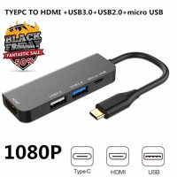 Black Friday Clearance!!!USB C to HDMI Adapter, USB C Hub to 4K HDMI Adapter, USB 3.0/2.0 Port and USB-C Charging Port Compatible MacBook/iMac/Chromebook/Samsung/Projector/Monitor
