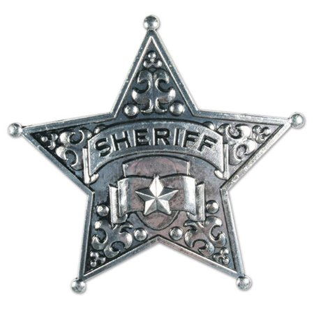 Beistle Company 60036 Metal Sheriff Badge