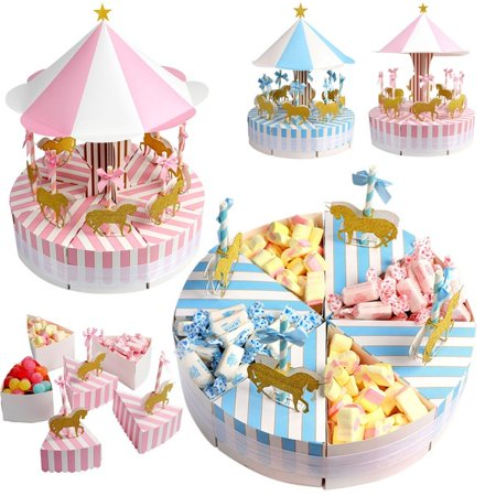 Merry-Go-Round Laser Cut Wedding Party Favor Box Candy Bag Chocolate Gift Boxes Bridal Birthday Shower