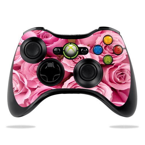 Protective Vinyl Skin Decal Cover for Microsoft Xbox 360 Controller wrap sticker skins Pink Roses