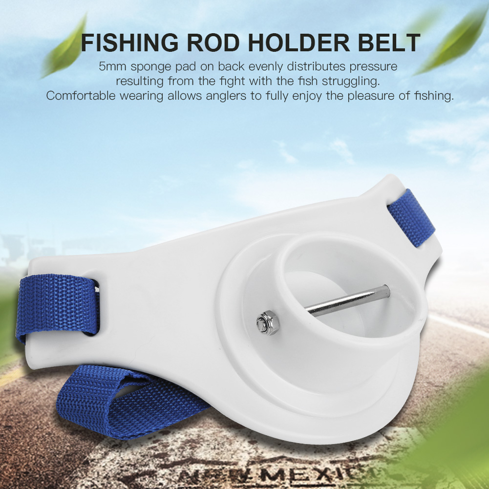 Lv. life Boat Rock Fishing Rod Pole Holder Adjustable Waist Fighting Belt Fish Tackle Accessories , Fighting Belt, Fishing Tackle Accessories