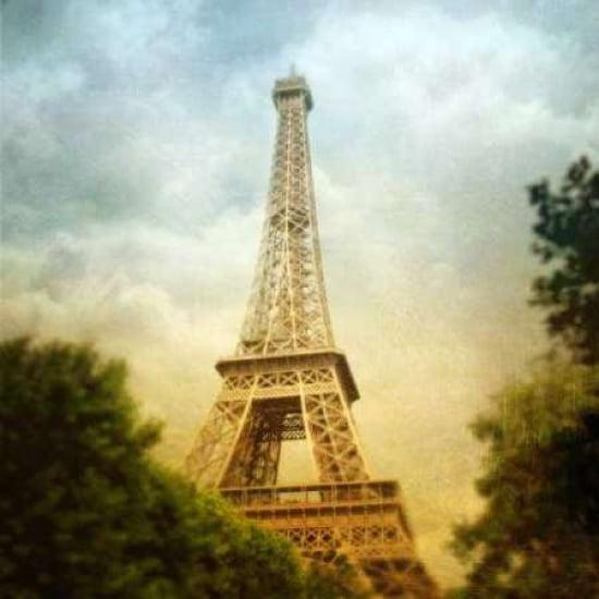 Eiffel Tower III Canvas Art - Amy Melious (24 x 24)