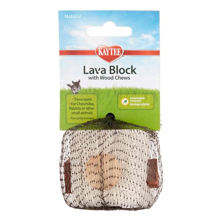 Kaytee Lava Block Small Animal Chew Toy , 2.25
