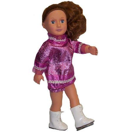 Pink Metallic Ice Skating Outfit For 18 Inch Girl Dolls - Sting Outfit