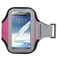 MUNDAZE Pink Exercise Running Fitness Armband For Samsung Galaxy S8 S9 S10 PLUS / NOTE 8 / Note 9 / Note 10 Phone