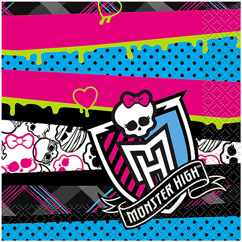 Monster High Beverage Napkins, 16ct