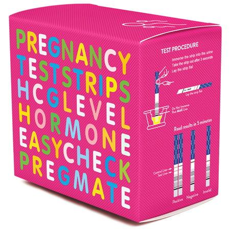 PREGMATE 50 Pregnancy HCG Test Strips One Step Urine Test Strip Combo Predictor Kit Pack (50 (Urine Pregnancy Test Vs Blood Pregnancy Test)