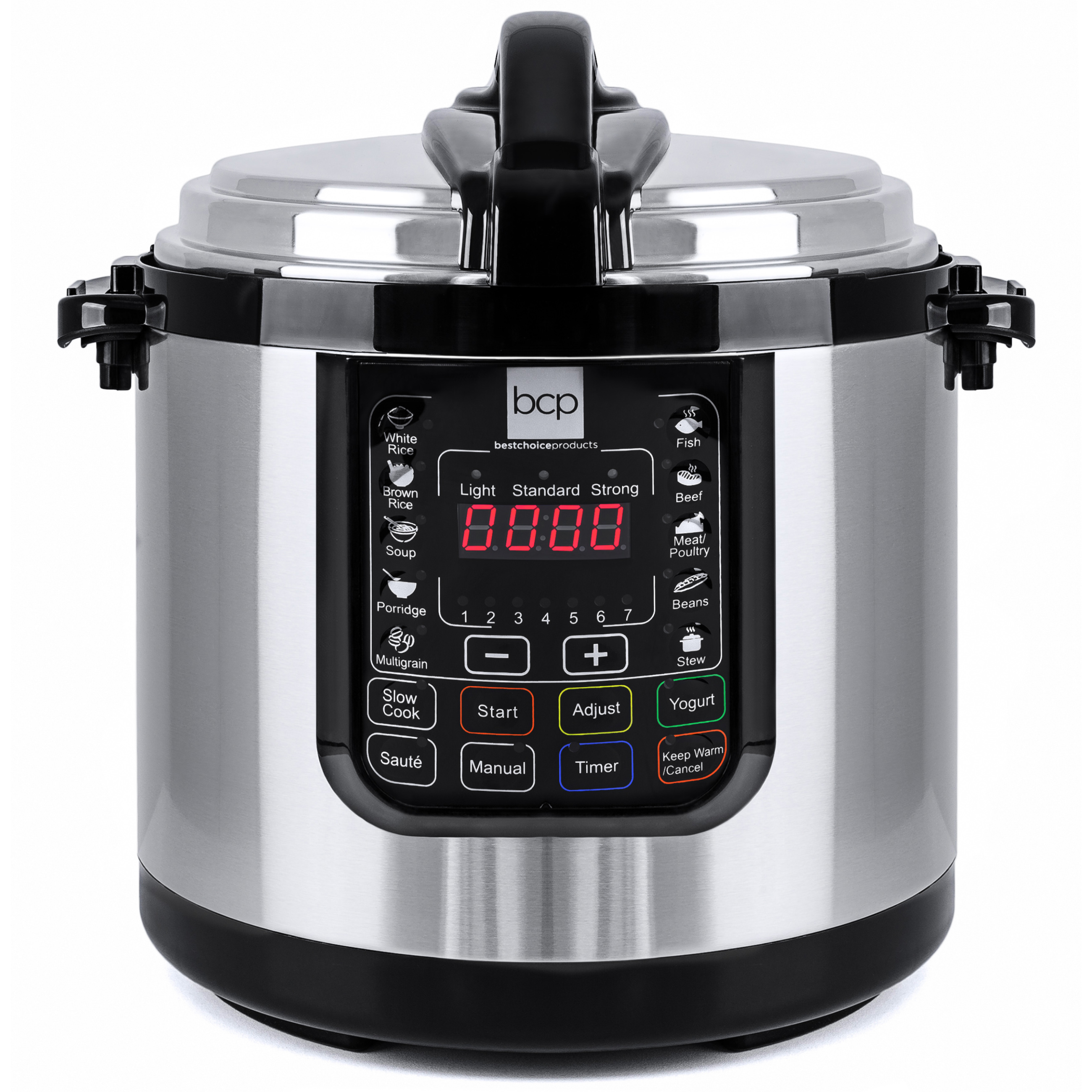 Best Choice Products 6-Liter 1000 Watt Stainless Steel Electric Pressure Cooker W/ LED Display Screen