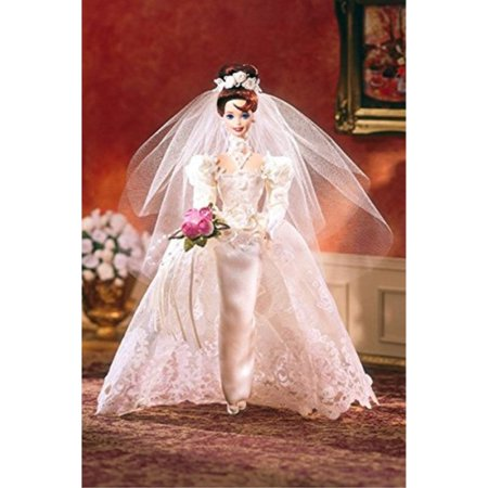 Romantic Rose Bride Porcelain Barbie Doll (Porcelain Doll Halloween)