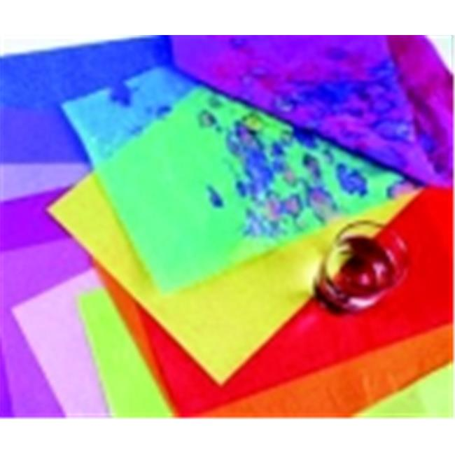 Spectra 12 x 18 inch Deluxe Bleeding Recyclable Art Tissue Paper - National Red, Pack 50