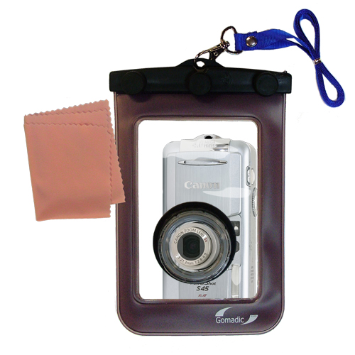 Gomadic Waterproof Camera Protective Bag Suitable For The Canon Powershot S45  -  Unique Floating Design Keeps Camera Clean And Dry