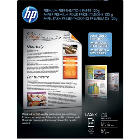 HP, HEWCG988A, Laser Premium Glossy Presentation Paper, 250 / Pack, White - Hp Color Laser Presentation Paper