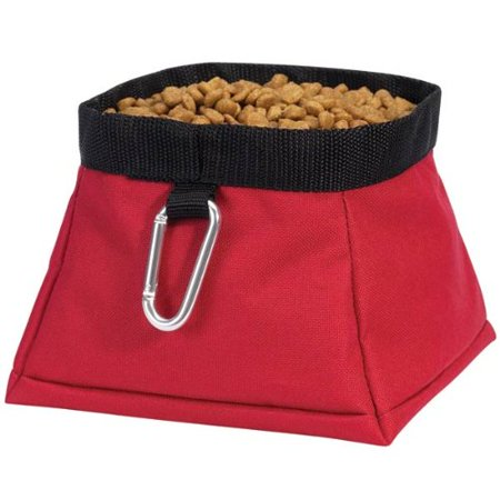 Guardian Gear Polyester Travel Pet Bowl, Crimson