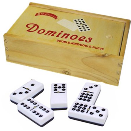 - Double Nine Dominoes BC Classic with Wood Case