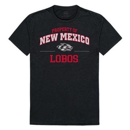 W Republic Apparel 517-182-E27-01 University of New Mexico Property College Tee Shirt - Black, Small - image 1 de 1