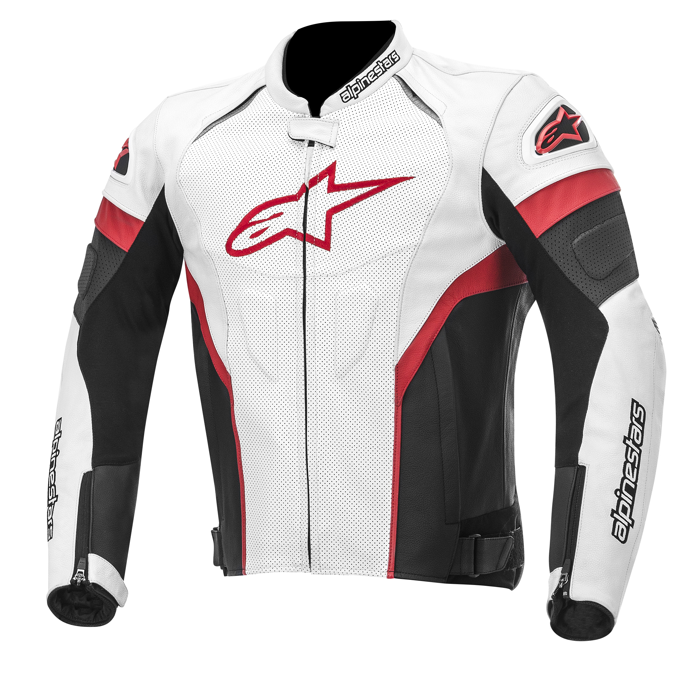 Alpinestars GP Plus R Perforated Leather Jacket White/Black/Red