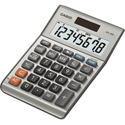 Casio MS-80S 8-Digit Desktop Calculator, Dual Power, Extra Large LCD Display, Silver