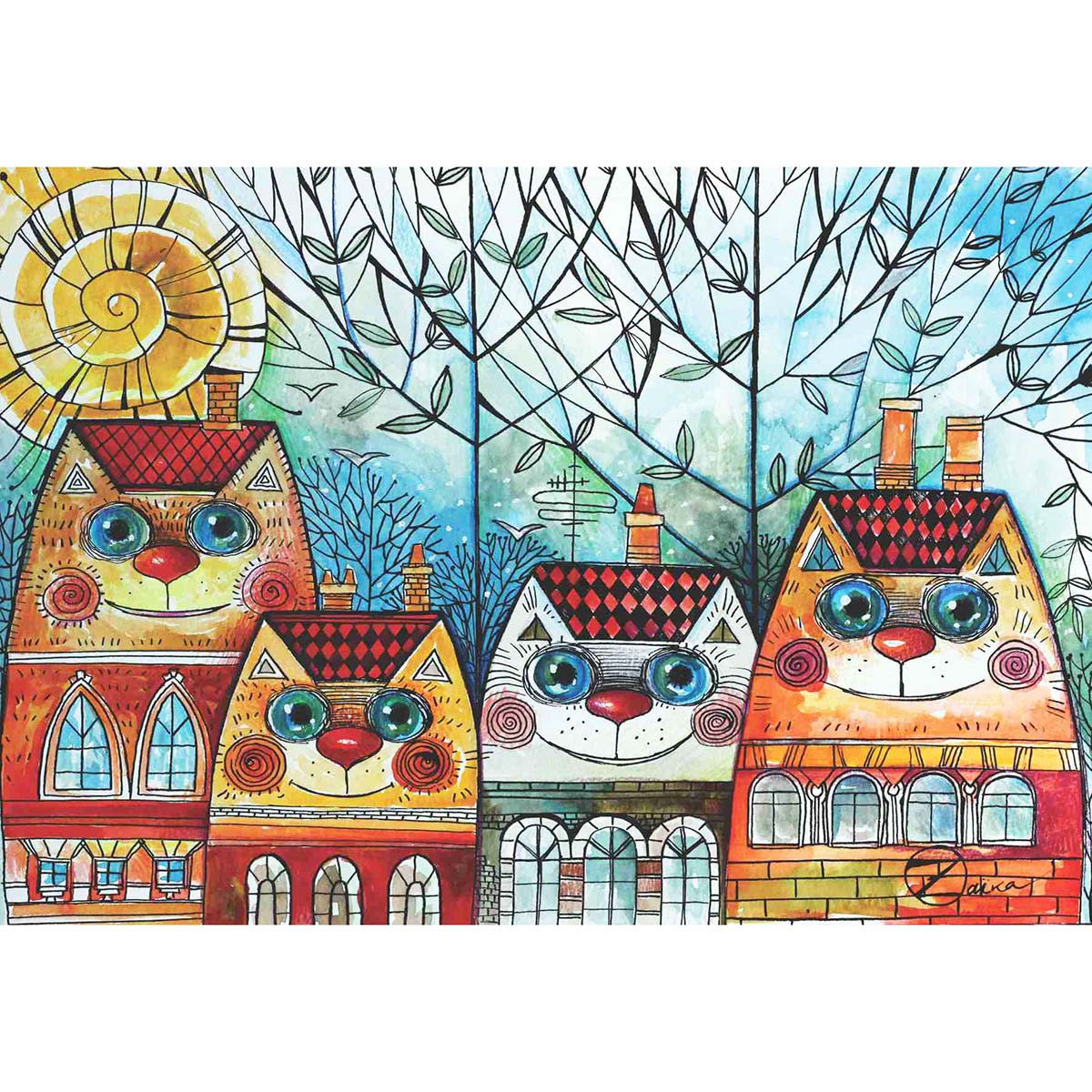 Perre City Cat Jigsaw Puzzle