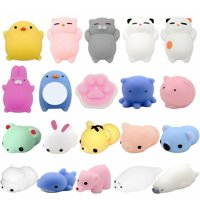 20 Pcs Mochi Kawaii Squishies Squishy Animals Stress Toys Stress Relief Animal Toys Squeeze Toys Squishy Cats Mini Seal Squishy Cat Pig Elephant Tiger Rabbit Squishies