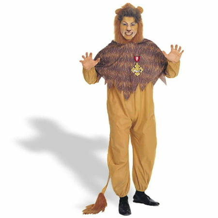 The Wizard of Oz Cowardly Lion Adult Halloween Costume - Adult Lion Costume