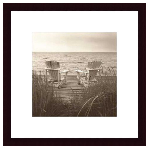 Printfinders 'Beach Chairs' by Christine Triebert Framed Photographic Print
