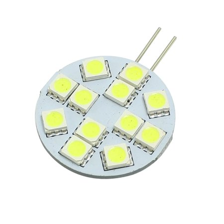 Unique Bargains Boat Car White G4 5050 SMD 12  Side Pin Spotlight Lamp Bulb DC  -