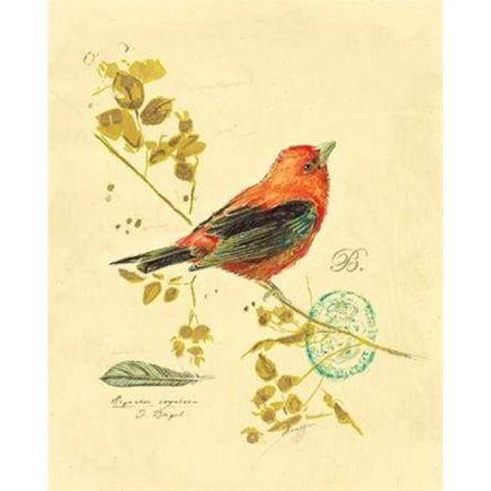 Art In Motion PDX122BAR1164LARGE Gilded Songbird 3 Poster Print by Chad Barrett, 22 x 28 - Large - image 1 of 1