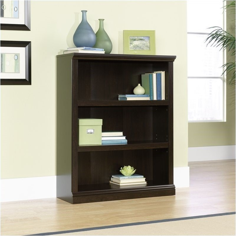 Pemberly Row 3 Shelf Bookcase in Jamocha Wood