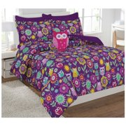 Fancy Collection 6pc Kids Teens Girls Owl Flowers Design Luxury Bed In A