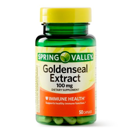 Echinacea Goldenseal Capsules - Spring Valley Goldenseal Extract Capsules, 100 mg, 50 Ct