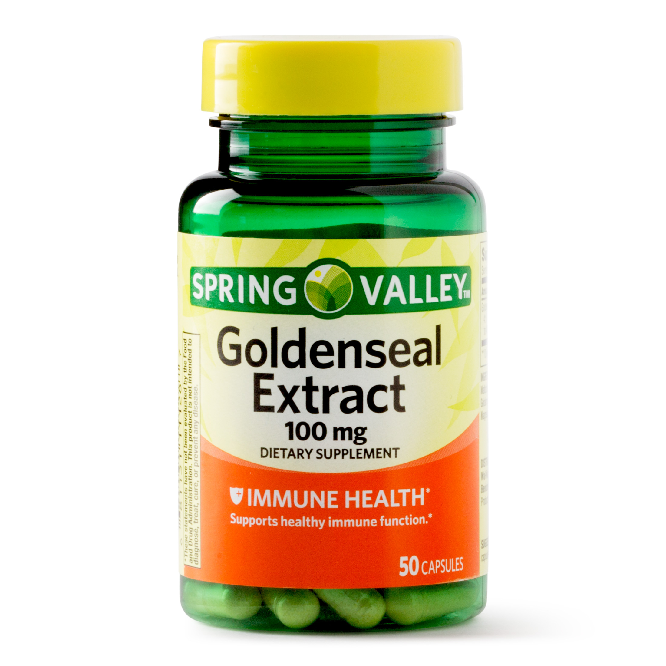 Spring Valley Goldenseal Extract Capsules, 100 mg, 50 Ct