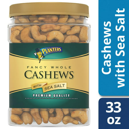 Whole Cashews - Planters Fancy Whole Cashews With Sea Salt, 33 oz Jar