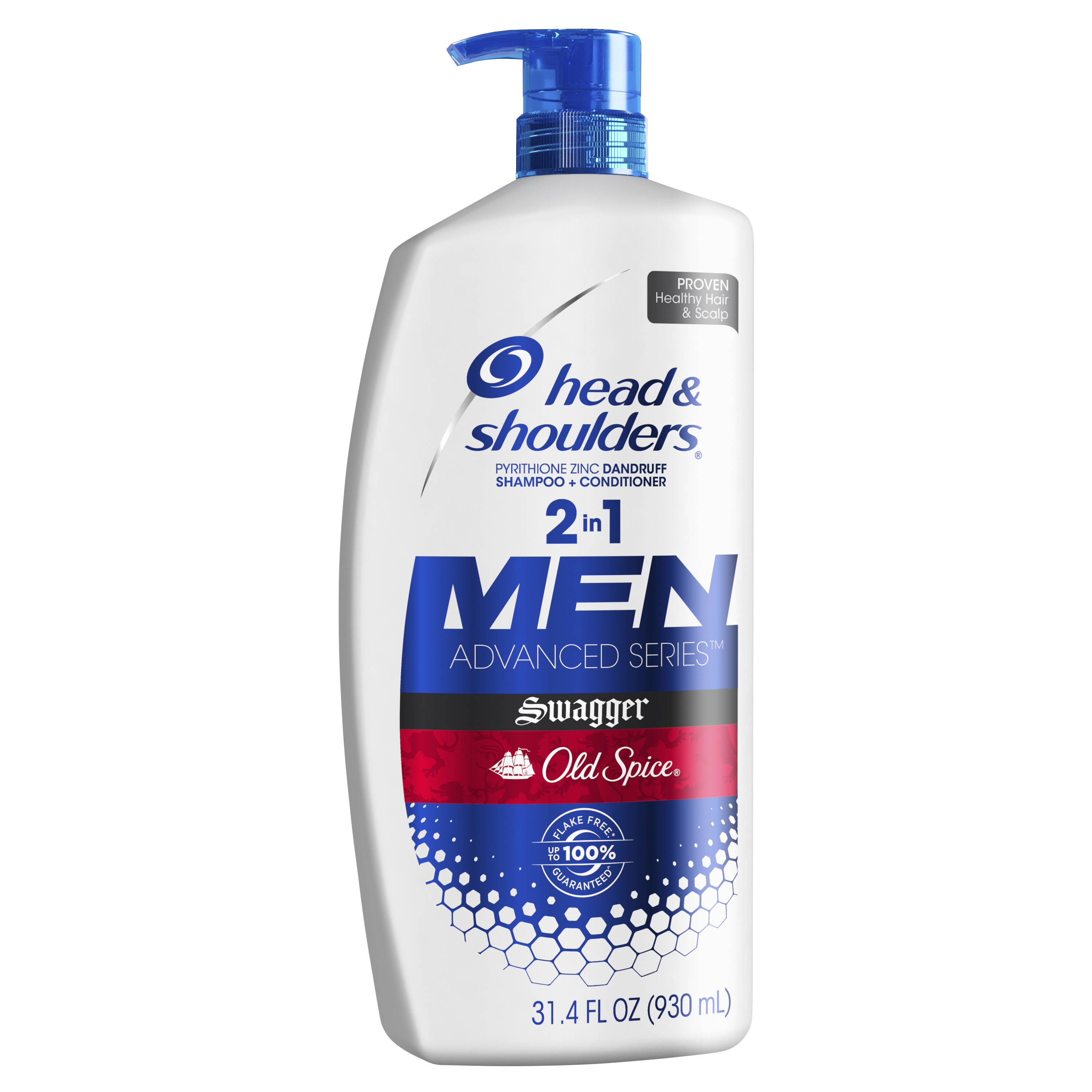 Head and Shoulders Old Spice Swagger Dandruff 2 in 1 Shampoo and Conditioner, 31.4 fl oz